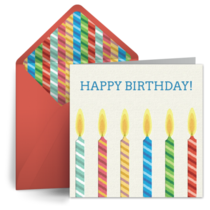 Happy Birthday Candles card image
