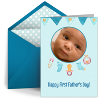 First Father's Day Photo card image