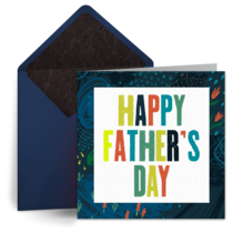Father's Day Abstract card image
