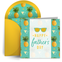 Father's Day Pineapples card image
