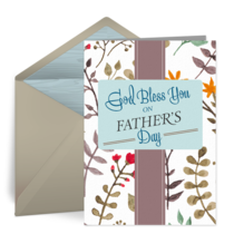Religious Father's Day card image