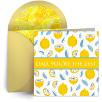 Dad, You're the Zest card image