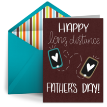Long Distance Father's Day card image