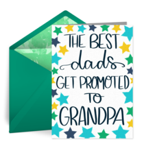 Promoted to Grandpa card image