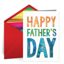 Father's Day Lettering card image