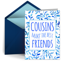 National Cousins Day | Jul 24 card image