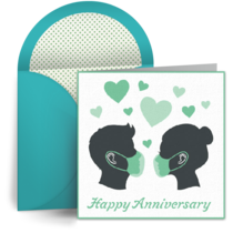 Pandemic Anniversary Mr. and Mrs. card image