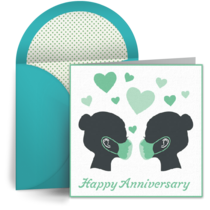 Pandemic Anniversary Mrs. and Mrs. card image