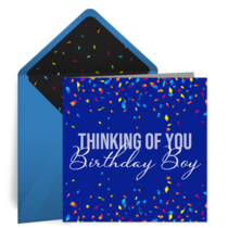 Birthday Boy Confetti card image