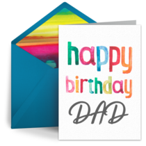 Happy Birthday, Dad card image