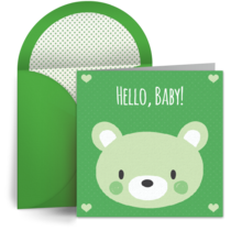 Hello Baby Bear card image