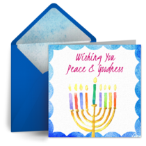 Bright Menorah card image