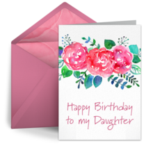 Happy Birthday to my Daughter card image