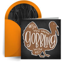 Wish You Were Gobbling With Us card image
