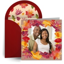 Fall Equinox Oval Photo card image