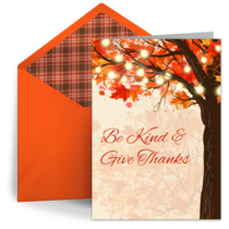 Autumn Trees card image