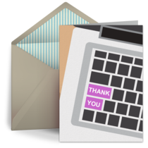 Boss's Day Thank You Keyboard card image