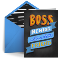 Boss, Mentor, Leader, Friend card image