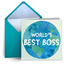 World's Best Boss card image