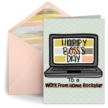 Work from Home Rockstar card image