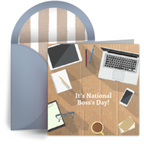 Boss's Day Desk card image