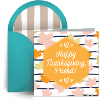 Happy Thanksgiving, Friend! card image