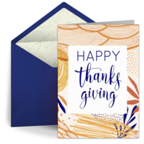 Abstract Thanksgiving card image