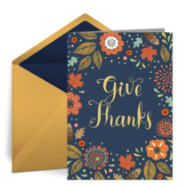 Handlettered Thanksgiving card image