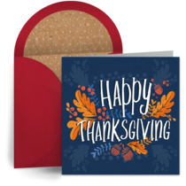 Rustic Happy Thanksgiving card image