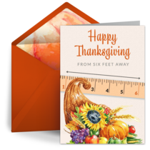 Thanksgiving Six Feet Away card image