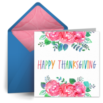 Rainbow Thanksgiving card image