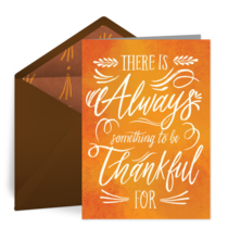 Always Thankful card image