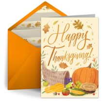 Thanksgiving Floral card image