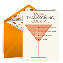 Thanksgiving Quarantini card image