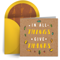 In All Things, Give Thanks card image