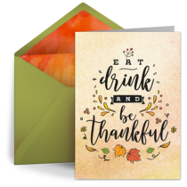 Eat, Drink, and be Thankful card image