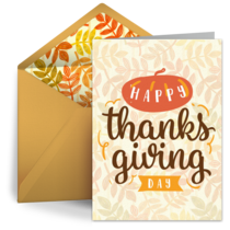 Happy Thanksgiving Day card image