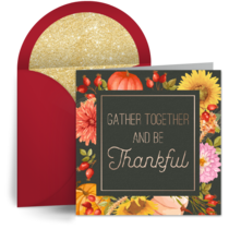 Gather Together and Be Thankful card image