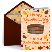 Happy Thanksgiving From A Safe Distance card image