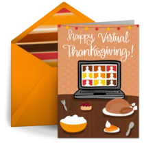 Happy Virtual Thanksgiving card image
