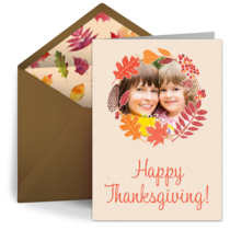 Rustic Thanksgiving Photo card image