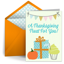 Thanksgiving Treat card image