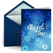 Whimsical Mazel Tov card image