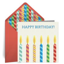 Birthday Candle for Him card image