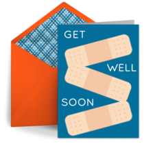 Get Well Bandages card image