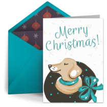 Merry Christmas Pup card image