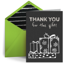 Thank You Holiday Chalkboard card image