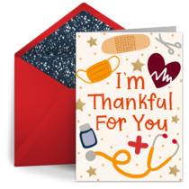 Holiday Thankful For You card image