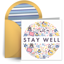 Thank You Stay Well card image