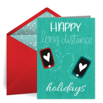 Long Distance Thank You card image